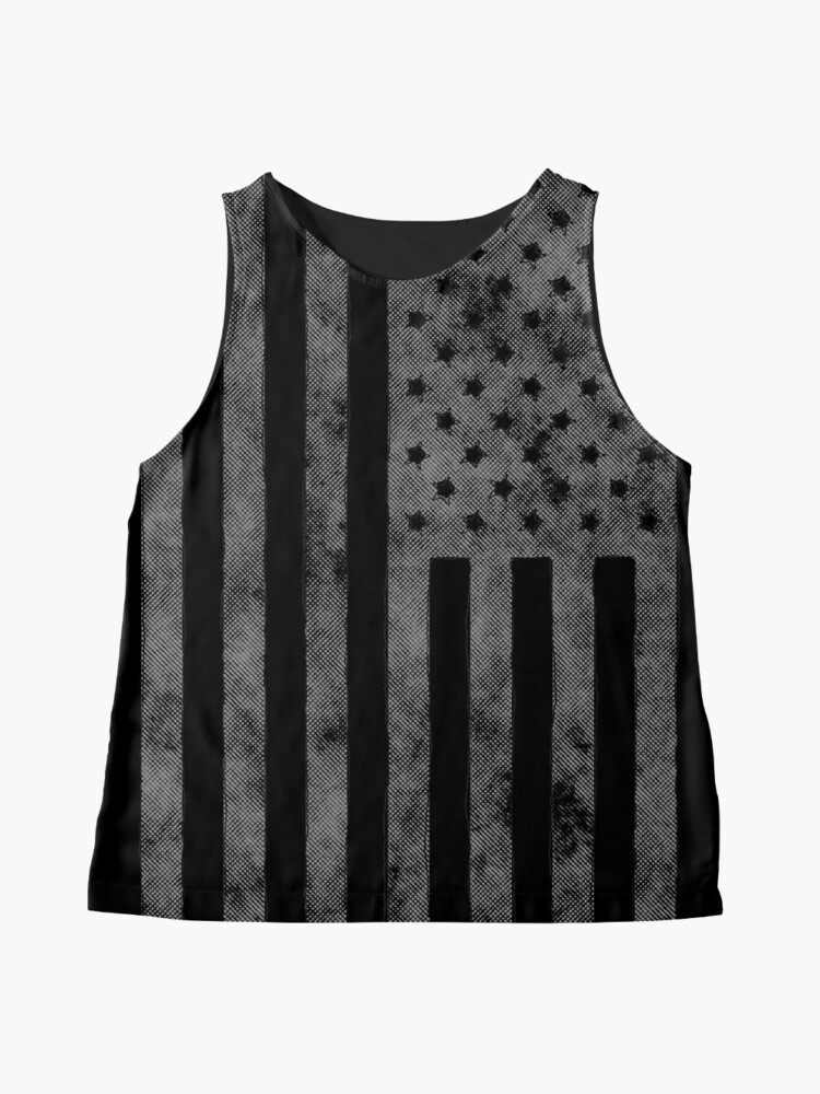 Alternative Ansicht von US-Flagge Grunge-Stil Ärmelloses Top