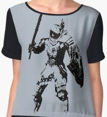 Digital Warrior Chiffon Top