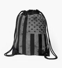 US Flag Grunge Style Drawstring Bag