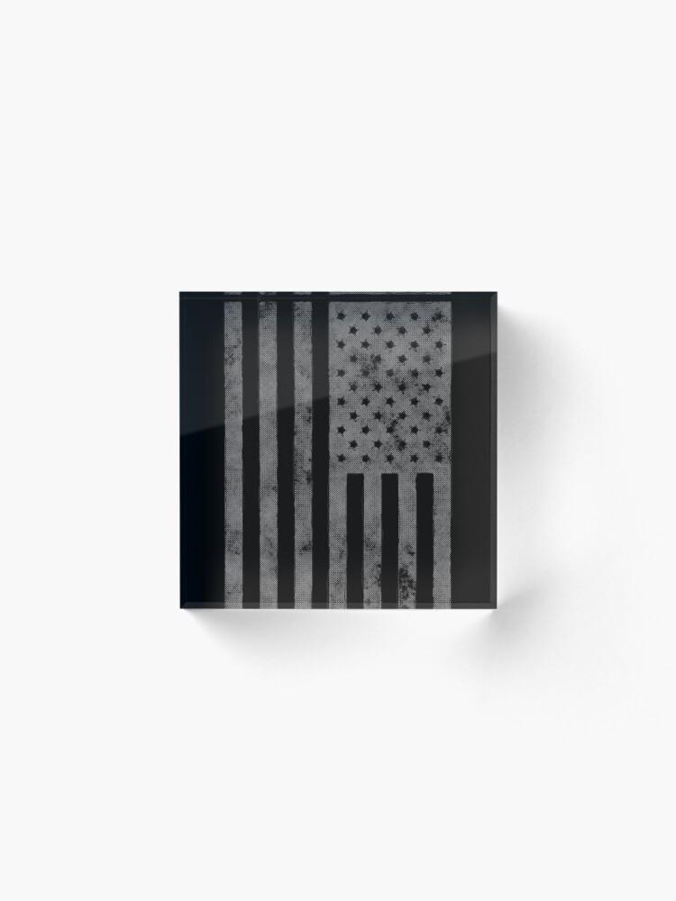 Alternative Ansicht von US-Flagge Grunge-Stil Acrylblock