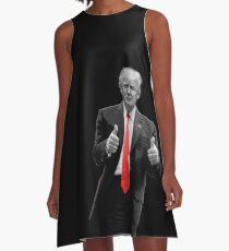 Donald Trump For President 2016 Thumbs Up A-Line Dress