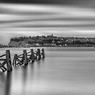 Four Minutes At Cardiff Bay Mono by Steve Purnell