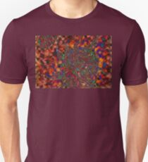 Multi Color Sun and Earth Abstract Drawing Design Unisex T-Shirt