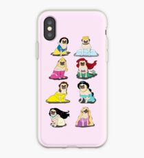 Vinilo o funda para iPhone Pug Princesses Version 2