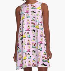 Mops Prinzessinnen Version 2 A-Linien Kleid