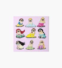 Mops Prinzessinnen Version 2 Galeriedruck