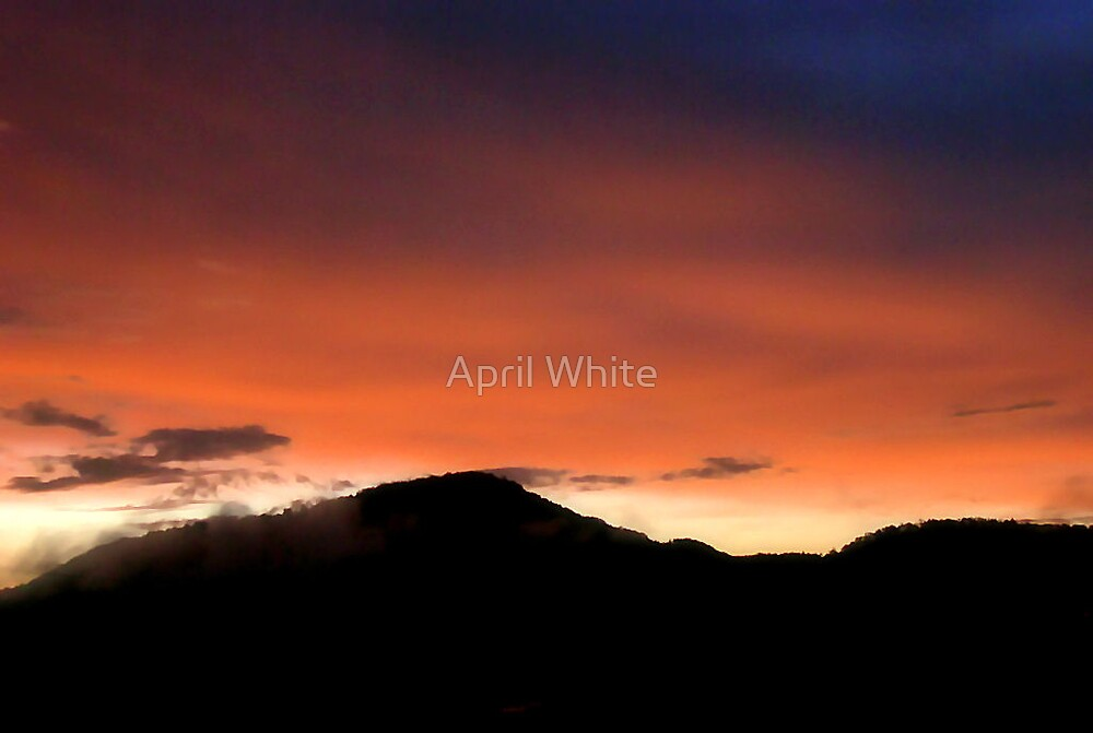 East Tennessee Mountain Sunset by April White
