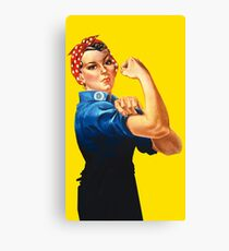 Rosie The Riveter Retro Style design Canvas Print