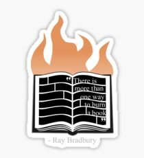 To Burn a Book Sticker