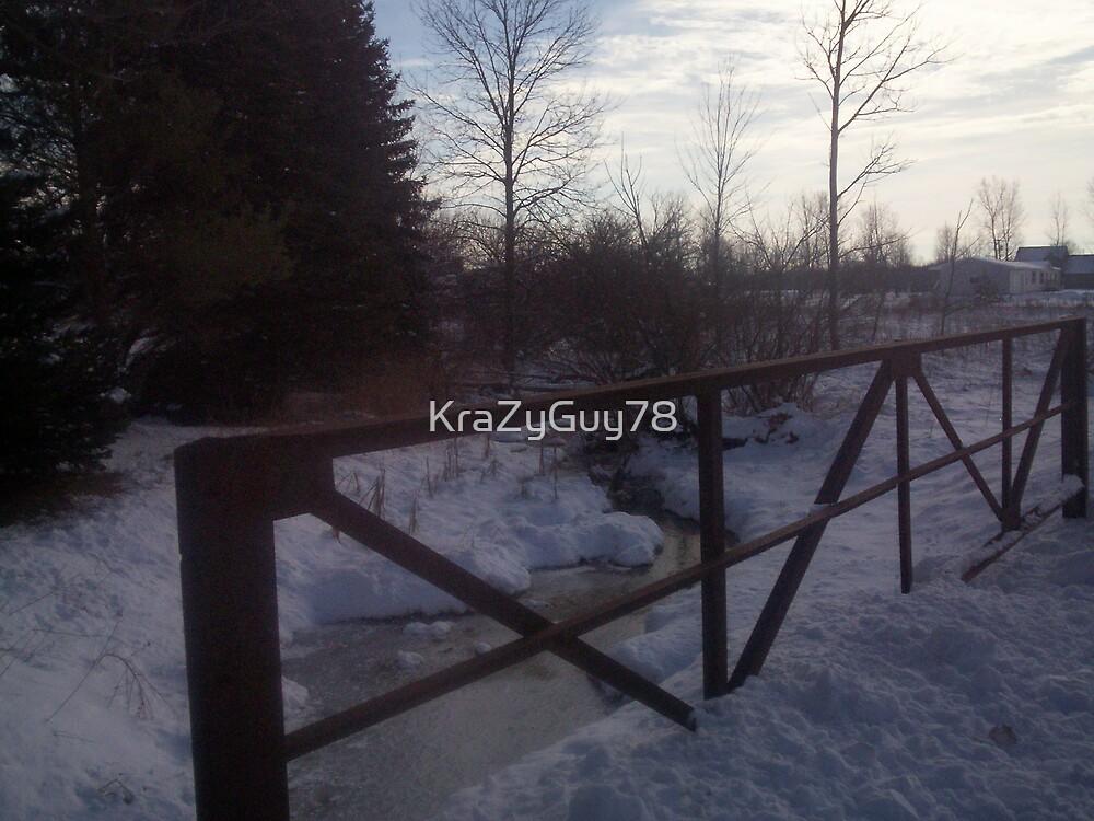 Snowy Bridge by KraZyGuy78