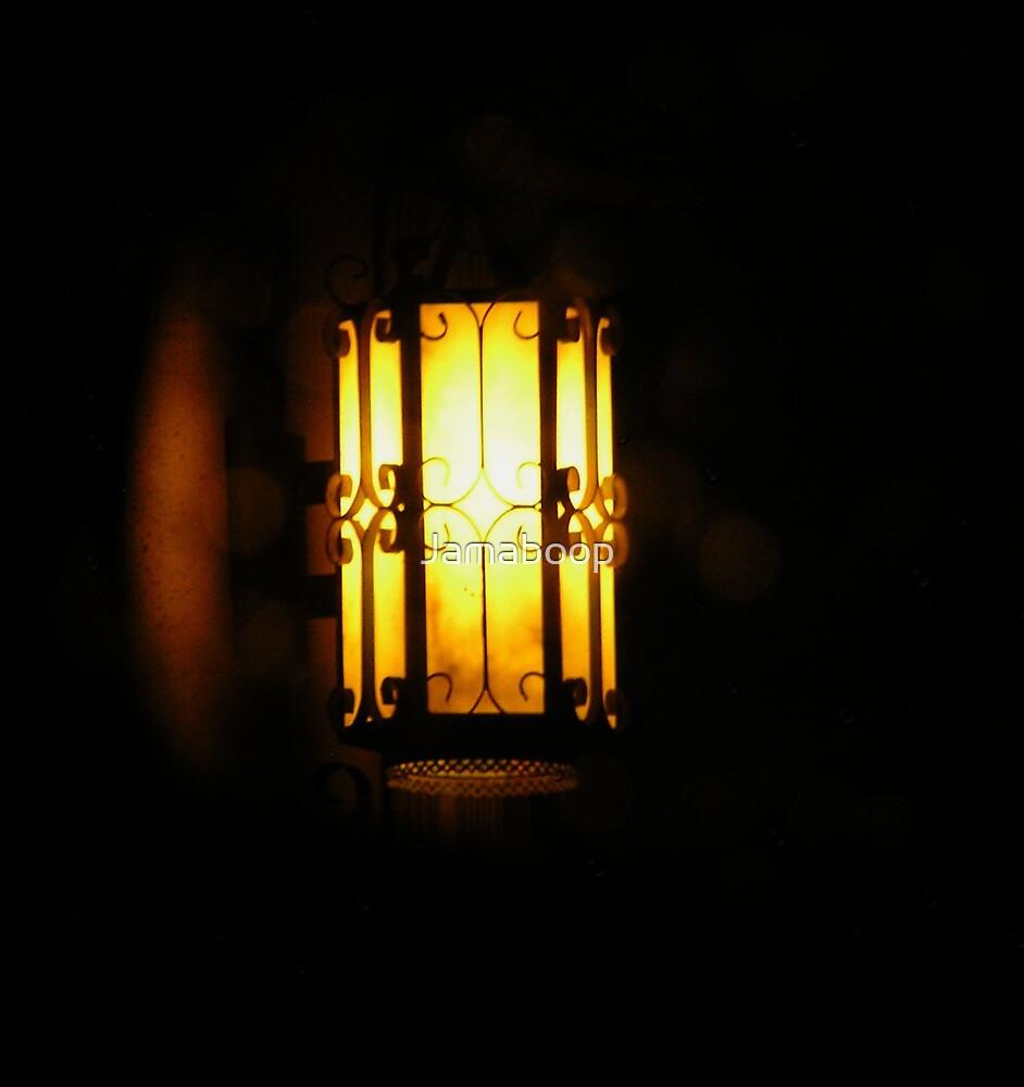 Lamp in mirror by Jamaboop