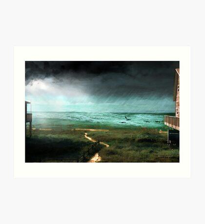 St. George Rain Storm Art Print