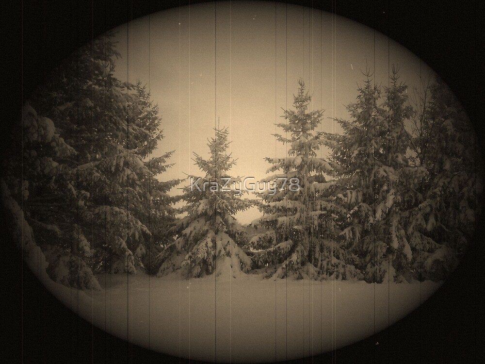old view snowy pines by KraZyGuy78