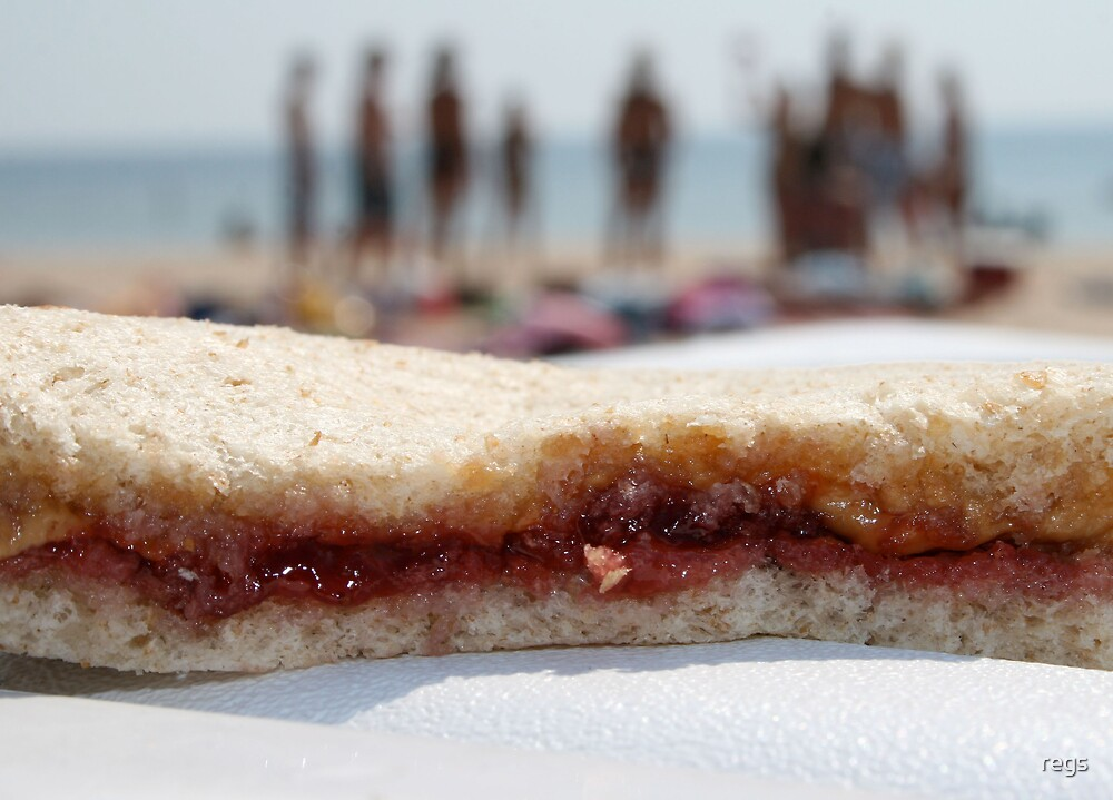 pb&j at the beach by regs