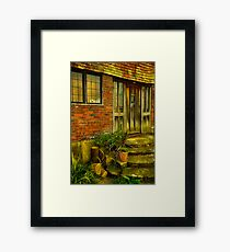 Steps to the manor Framed Print