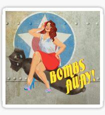 Bombs Away Pin Up  Sticker