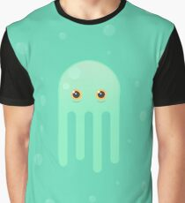 Lime Jellyfish Graphic T-Shirt