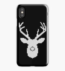 White Tail Buck in Knit Style iPhone Case/Skin