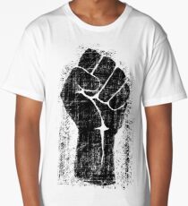 Dirt Fist Grunge Distressed Style Long T-Shirt