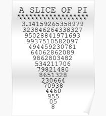 A Slice of Pi Poster