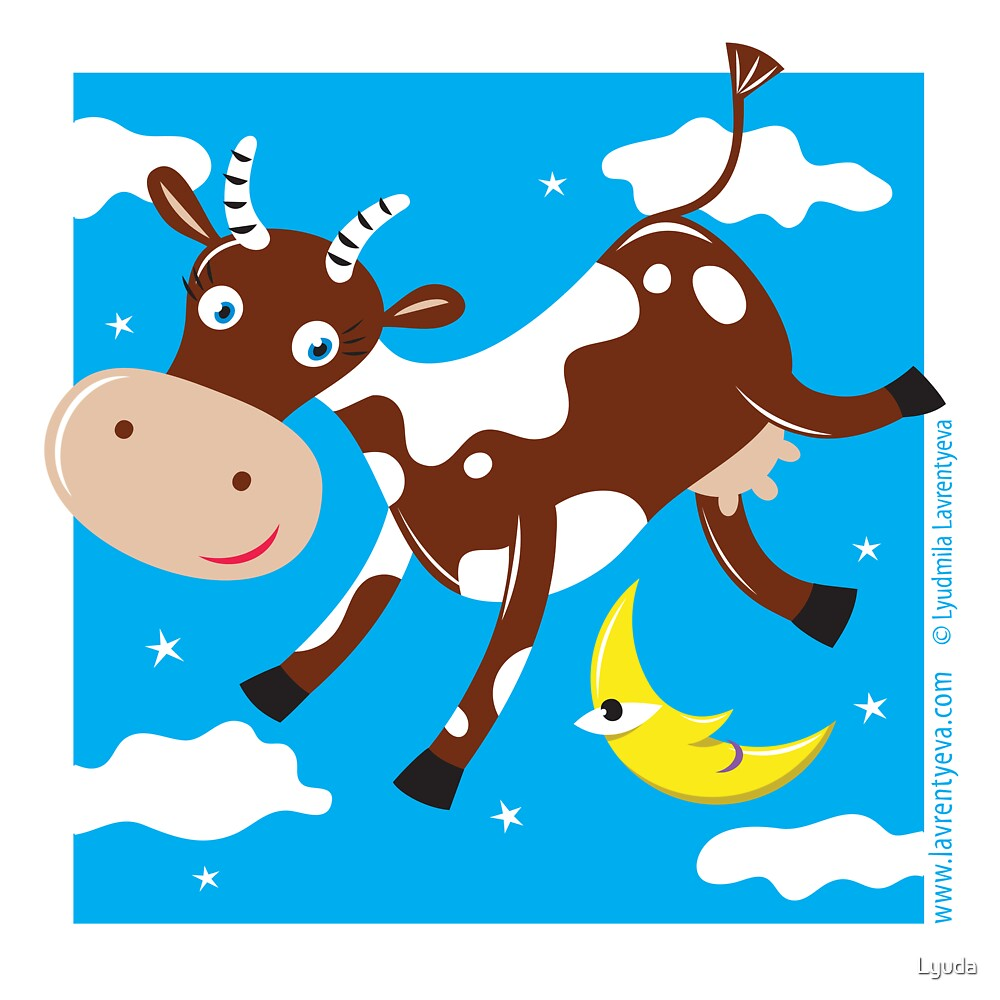 Cow Jumped Over the Moon by Lyuda