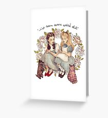 """""""I've seen some weird shit."""" Greeting Card"""