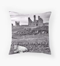 Dunstanburgh castle Northumberland  Throw Pillow