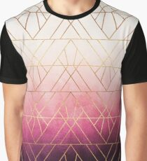 Pink Ombre Triangles Graphic T-Shirt