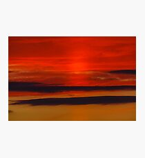 Flames of Sunset Photographic Print