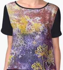 Watercolor Spray and flowers Chiffon Top