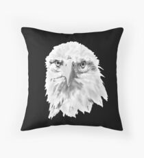 Bald Eagle head  as a drawing Throw Pillow