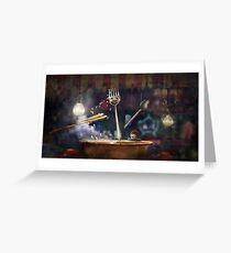 """""""Beijing""""  Illustration M.Konecka for """"Destin de carte postale"""" Greeting Card"""