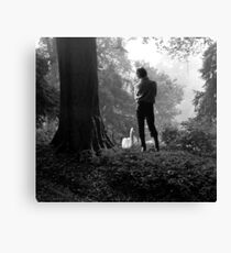 Boy and the Swan Canvas Print