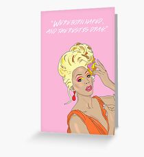 RuPaul, We're All Born Naked and The Rest is Drag Greeting Card