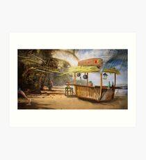 """Denpasar""  Illustration M.Konecka for ""Destin de carte postale"" Art Print"