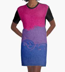 Bisexual Ornamental Flag Graphic T-Shirt Dress