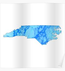 Blue Marble North Carolina Poster