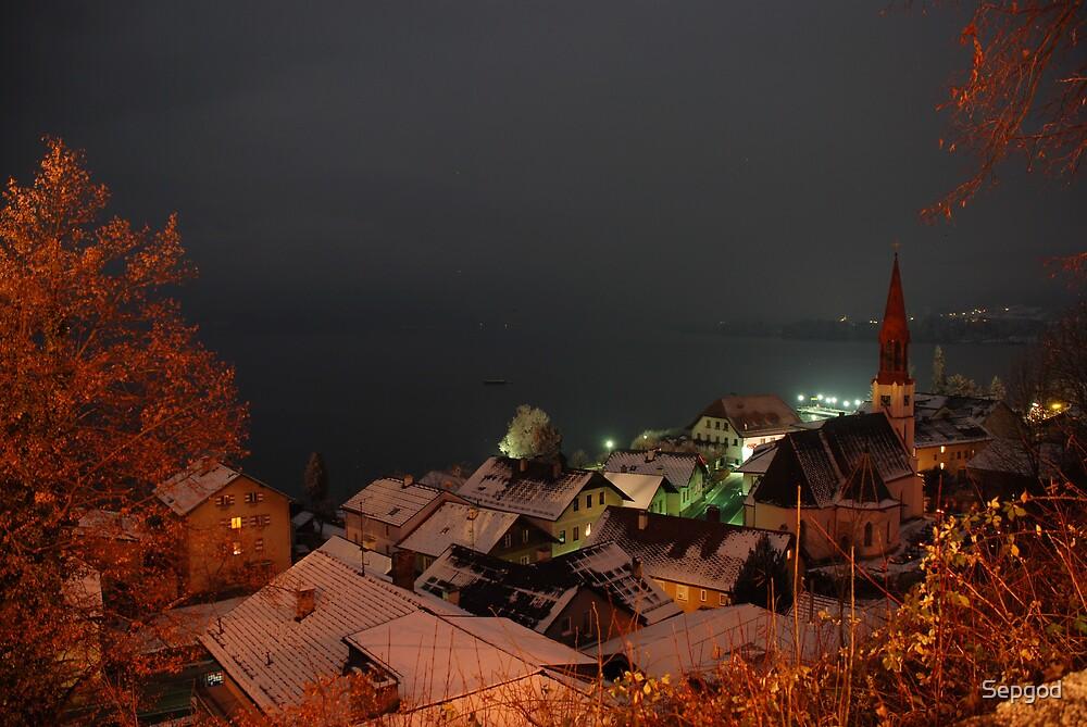 Winterliche Mitternacht über Attersee / Xmas Midnight over Attersee! by Sepgod