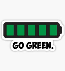 """Go Green"" Energy Conservation Logo Sticker"