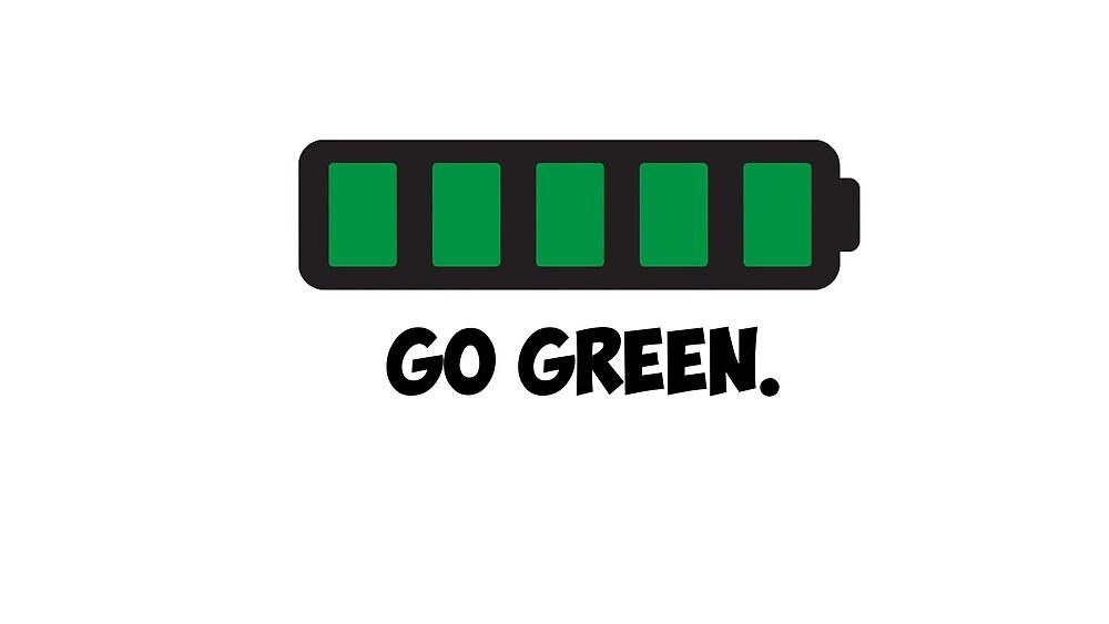 """Go Green"" Energy Conservation Logo by michaelkuron"