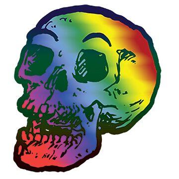 Depression Skeleton: ROYGBIV SKULL by cicadahaus
