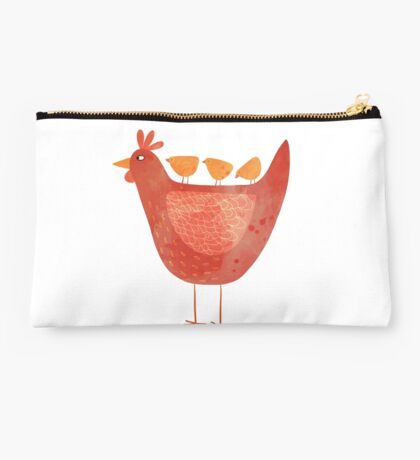 Hen and Chicks Studio Pouch