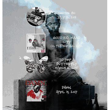 Kendrick Lamar studio album discography by evaldaspx