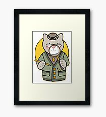 Detective Cat Framed Print