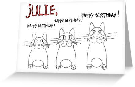 Joyeux Anniversaire Julie Cartes De Vœux Par Jean Gregory Evans