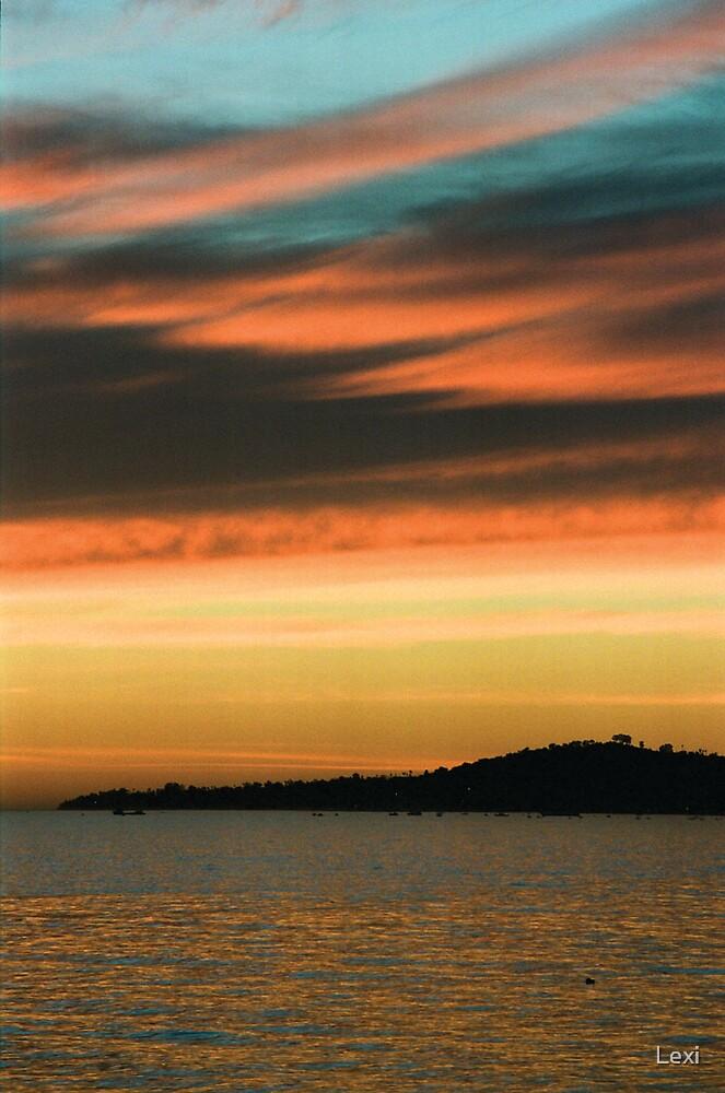 Christmas 2007 Sunset Santa Barbara California by Lexi