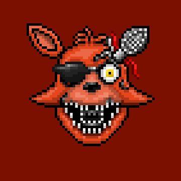 Five Nights at Freddy's 2 - Pixel art - Foxy by GEEKsomniac