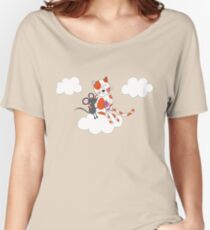 Cat with mouse  Women's Relaxed Fit T-Shirt