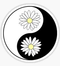 Yin Yang Daisies Sticker