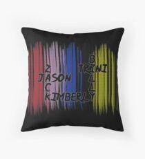 Power Rangers names Throw Pillow